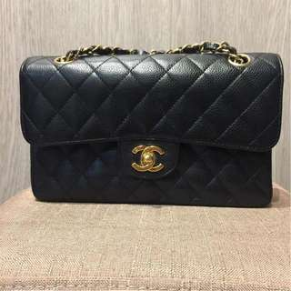 Chanel Double Flap Small Black Caviar with GHW