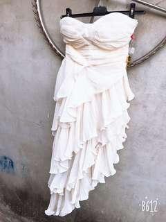 全新婚禮洋裝禮服米白色