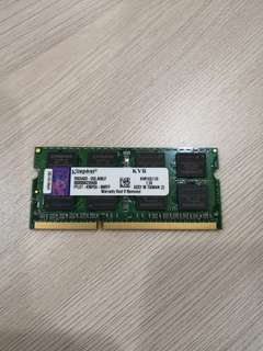 Kingston 8GB 204-Pin DDR3 SO-DIMM DDR3 1600 Laptop 1.5V Memory Model KVR16S11/8  - Used