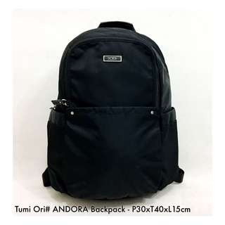 Authentic Tumi Andora Backpack - Black