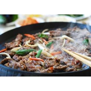 Panci Bulgogi Marble Grill Pan Alat Panggang Steak Sehat Tanpa Arang