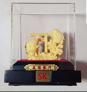 SK accessories 999 Gold Plated Yu  Yue Long Men