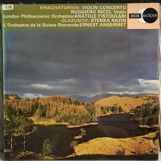 Ruggiero plays Khachaturian Violin Concerto DECCA 641