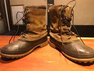 🚚 百年老牌SOREL 保暖登山雪靴 加拿大製 真皮 二手美品