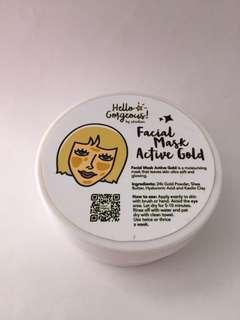 Hello Gorgeous! Facial Mask Active Gold