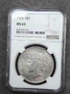 ☆☆☆100% Original America Silver Dollars NGC MS63