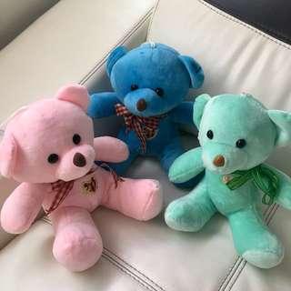 New. Cute Teddy Bears (Set of 3)