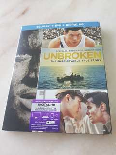 UNBROKEN   BLU RAY . DVD . HD