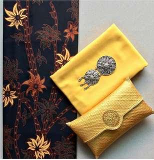 1 set Kain Batik Sogan Klasik Primis