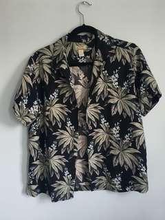 Vintage tommy bahama 100% silk shirt