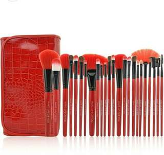 Brush Fabulous  & soft red set 24 Kuas Super - super lembut