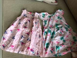 PL carters and osh kosh pink dress bundle (24m)