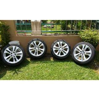 "Ori Mercedes 17"" rim with tyre complete set"