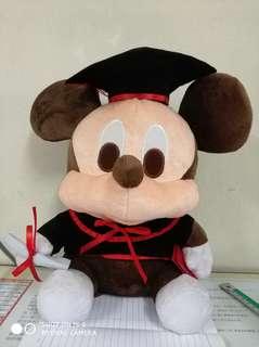 Mickey soft toy (graduation-themed)