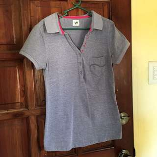 Lee Pipes Gray Polo Shirt