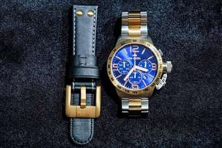 SALE! Authentic TW Steel Two Tone Luxury Watch CB144