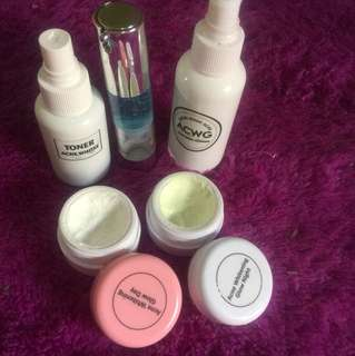 Cream acne white