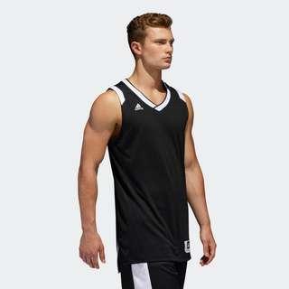 🚚 Adidas 全新 男 黑色 白色 籃球背心 籃球衣 運動 健身 慢跑 訓練 無袖 運動背心 背心 團隊 團服 隊服