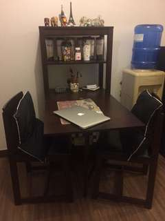 Dining/Study Table with Chairs IKEA Collapsable