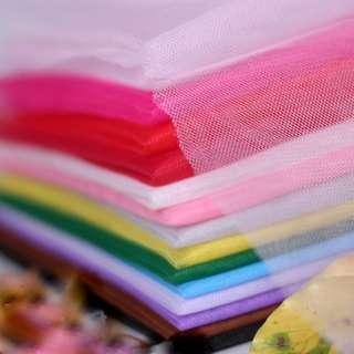 Tulle Netting Fabric-Wedding Car Accessories-Tutu Skirt