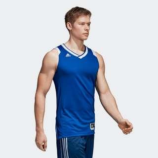 🚚 Adidas 全新 男 藍色 白色 籃球背心 籃球衣 運動 健身 慢跑 訓練 無袖 運動背心 背心 團隊 團服 隊服