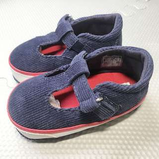 RALPH LAUREN Baby Mary Jane Navy Blue Baby Shoes Crib Shoes Size 3 RL Baby