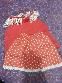Set baju anak 1/2th