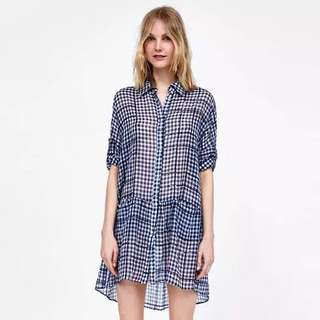 🚚 Europe and US style Plaid dress