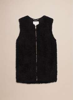 Aritzia Wilfred Chateau Shearling Vest