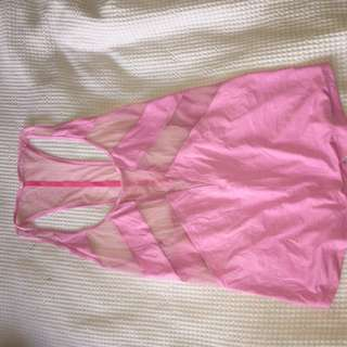 Lululemon workout singlet pink