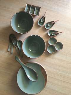 Glazed Clay Plates & Cutleries