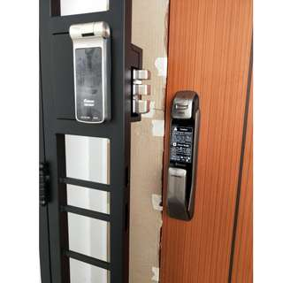 Latest Fingerprint Digital Lock Bundle For BTO Door and Gate at $1480 (Call 87828818)