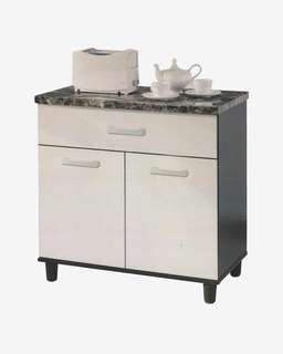 Marble top kitchen cabinet