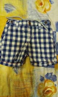全新Gap藍色格子褲,免運