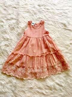 PL CRIB COUTURE EYELET DRESS 12M