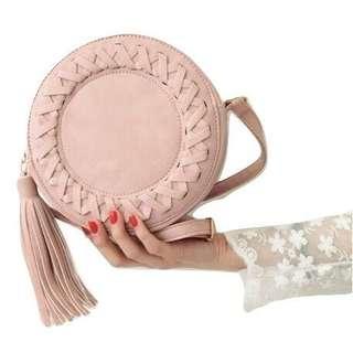 Tassel | Crossbody | Shoulder | Knitting Circular Messenger Bag