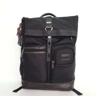 Authentic Tumi Luke Roll-Top Backpack - Black