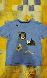 童Gymboree水藍色動物短t,免運