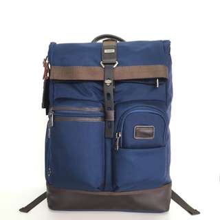 Authentic Tumi Luke Roll-Top Backpack - Blue