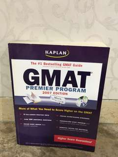 Preloved text book kaplan gmat 2007