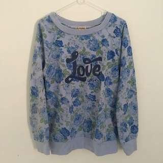 love blue floral