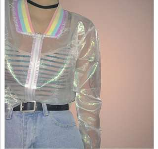 Rainbow Sunscreen Jacket