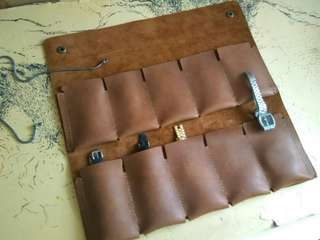 Customize Leather Watch Pouch +Nema Emboss