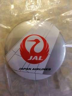 JAL Japan Airlines 日本航空 日航 航空 飛機 襟章 布袋 Airline