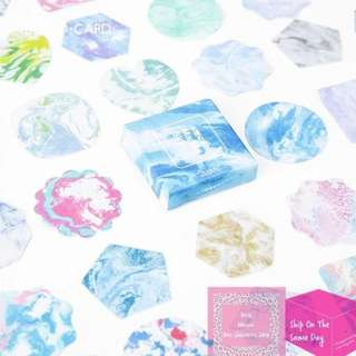 Set of 45pcs Marble Sky  & Concrete Sticker Pack