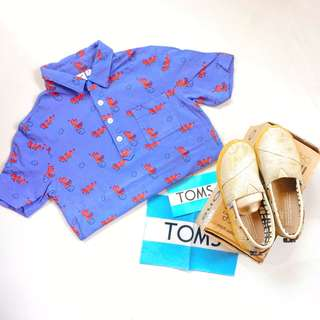 Uniqlo Poloshirt with FREE TOMS SHOES!!