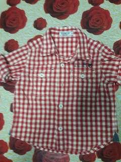Checkered boy longsleeves shirt