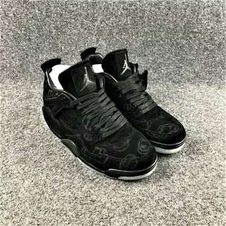 Nike Air Jordan IV 4 x KAWS Black high premium Oroginal