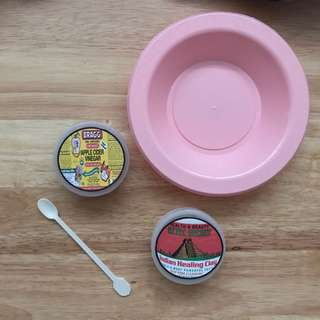 Aztec indian healing clay with apple cider vinegar, mixing bowl & stirrer