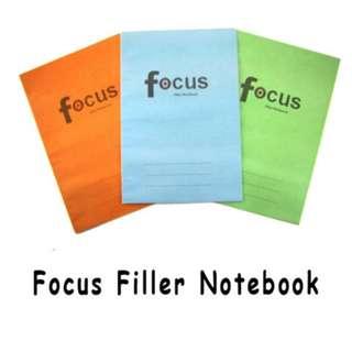 Focus Notebook Filler (25pcs) Per Set
